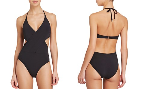 Tory Burch Solid Wrap One Piece Swimsuit - Bloomingdale's_2