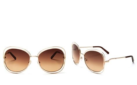 Chloé Carlina Oversized Sunglasses, 60mm - Bloomingdale's_2