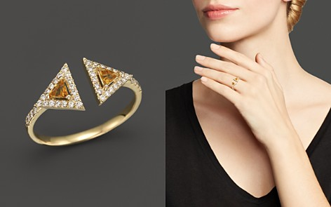 Citrine and Diamond Geometric Ring in 14K Yellow Gold - 100% Exclusive - Bloomingdale's_2