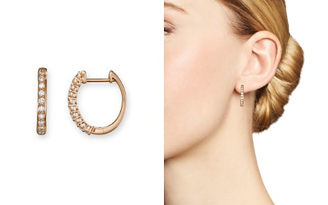 Diamond Hoop Earrings in 14K Rose Gold, .30 ct. t.w. - 100% Exclusive - Bloomingdale's_2