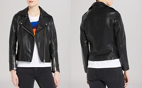 Sandro Jacket - Veinarde Leather Biker - Bloomingdale's_2