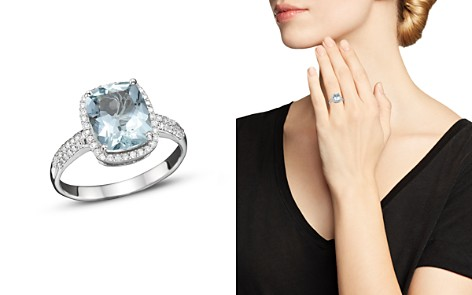 Aquamarine and Diamond Ring in 14K White Gold - 100% Exclusive - Bloomingdale's_2