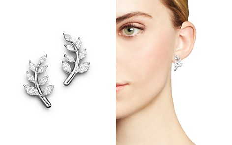 Diamond Leaf Earrings in 14K White Gold, 1.45 ct. t.w. - 100% Exclusive - Bloomingdale's_2