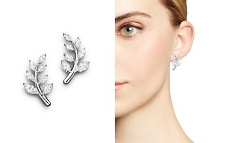 Diamond Leaf Earrings in 14K White Gold, 1.45 ct. t.w. - 100% Exclusive - Bloomingdale's_2