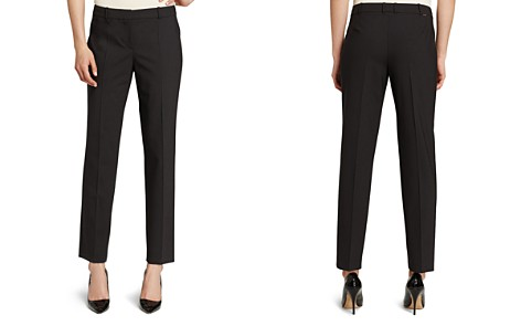 BOSS Tiluna Stretch Wool Ankle Pants - Bloomingdale's_2