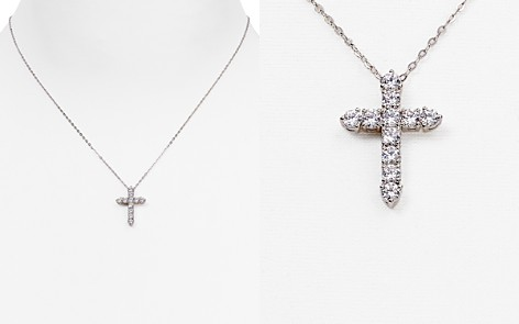 "Nadri Cross Pendant Necklace, 16"" - Bloomingdale's_2"