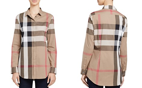 Burberry Cotton Check Print Shirt - Bloomingdale's_2