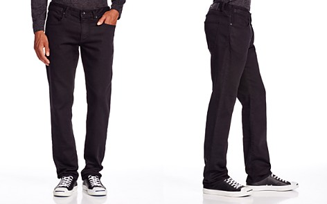 John Varvatos USA Bowery Straight Fit Jeans in Black - Bloomingdale's_2