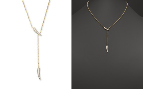 Diamond Claw Lariat Necklace in 14K Yellow Gold, .40 ct. t.w. - 100% Exclusive - Bloomingdale's_2