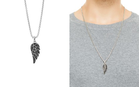 "John Hardy Classic Chain Silver Lava Eagle Wing Pendant Necklace with Black Sapphire, 26"" - Bloomingdale's_2"