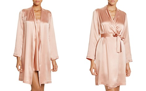 La Perla Silk Short Robe & Chemise - Bloomingdale's_2