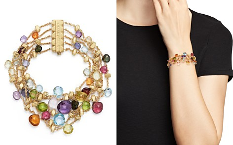 Marco Bicego 18K Yellow Gold Paradise Five Strand Mixed Stone Bracelet - Bloomingdale's_2