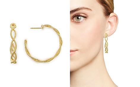 Roberto Coin 18K Yellow Gold New Barocco Braided Hoop Earrings - Bloomingdale's_2