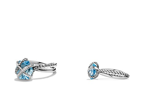 David Yurman Petite Cable Wrap Ring with Blue Topaz and Diamonds - Bloomingdale's_2