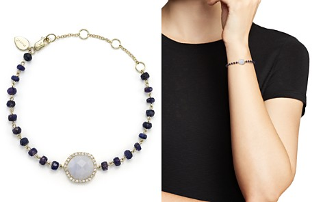 Meira T 14K Yellow Gold, Blue Lace Chalcedony and Sapphire Bead Bracelet with Diamonds - Bloomingdale's_2