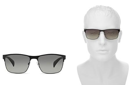 Prada Men's McNamara Rectangle Sunglasses, 58mm - Bloomingdale's_2