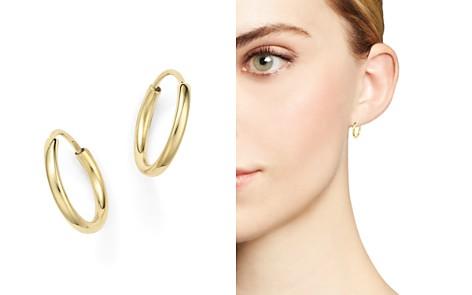 14K Yellow Gold Small Endless Hoop Earrings - 100% Exclusive - Bloomingdale's_2