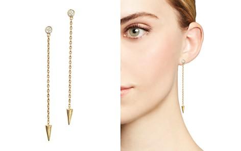 KC Designs Diamond Spike Drop Earrings in 14K Yellow Gold - Bloomingdale's_2