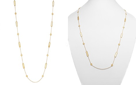 "Roberto Coin 18K Yellow Gold New Barocco Necklace with Diamonds, 35"" - Bloomingdale's_2"