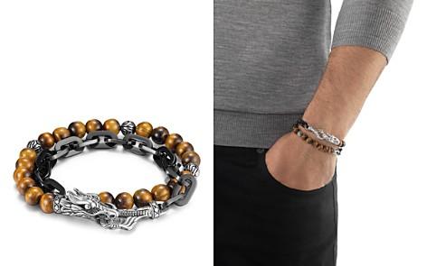 John Hardy Men's Naga Double Wrap Link Bracelet With Tiger's Eye - Bloomingdale's_2