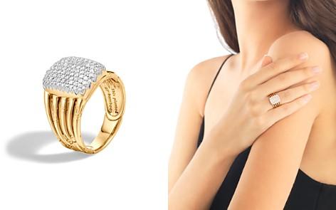 John Hardy Bamboo 18K Yellow Gold Diamond Pavé Five Row Ring - Bloomingdale's_2