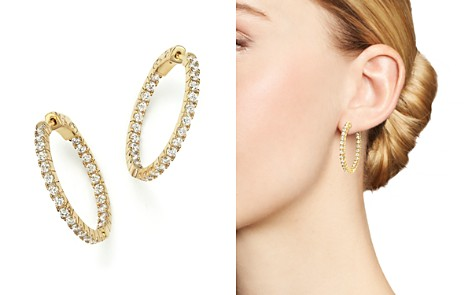 Diamond Inside Out Hoop Earrings in 14K Yellow Gold, 1.50 ct. t.w. - 100% Exclusive - Bloomingdale's_2