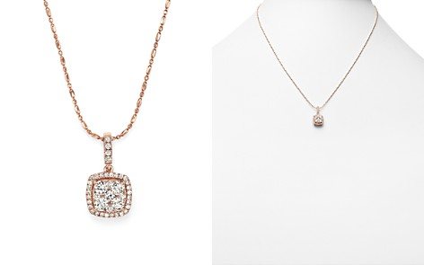 Diamond Pendant Necklace in 14K Rose Gold, .65 ct. t.w. - 100% Exclusive - Bloomingdale's_2