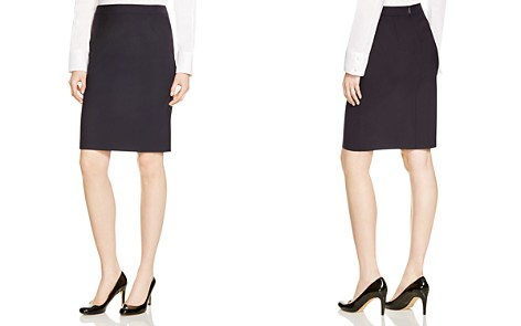 BOSS Vilea Stretch Wool Pencil Skirt - Bloomingdale's_2