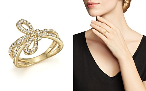 Diamond Bow Ring in 14K Yellow Gold, .45 ct. t.w. - 100% Exclusive - Bloomingdale's_2