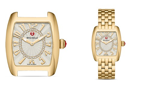 MICHELE Urban Mini Gold Diamond Dial Watch Head, 29 x 30mm - Bloomingdale's_2