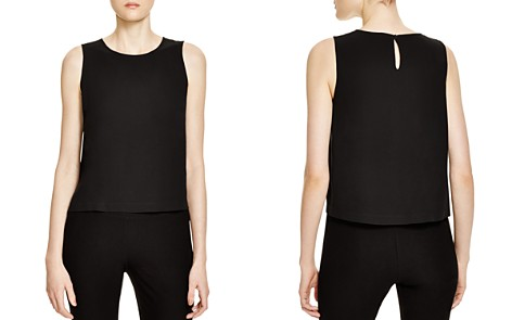 Eileen Fisher Petites System Silk Crop Top - Bloomingdale's_2