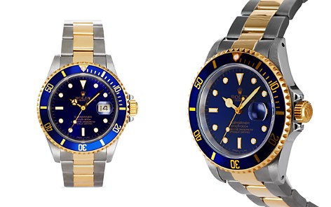Pre-Owned Rolex Stainless Steel and 18K Yellow Gold Two Tone Submariner Watch with Blue Dial, 40mm - Bloomingdale's_2