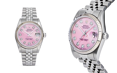 Pre-Owned Rolex Stainless Steel and 18K White Gold Datejust Watch with Pink Mother-of-Pearl and Diamond Dial, 31mm - Bloomingdale's_2