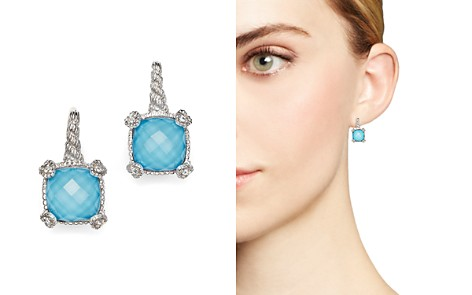 Judith Ripka Cushion Heart Prong Earrings with White Sapphire and Turquoise Doublets - Bloomingdale's_2