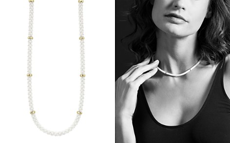 "LAGOS White Caviar Ceramic and 18K Yellow Gold Rope Station Necklace, 16"" - Bloomingdale's_2"