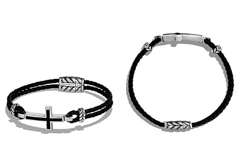 David Yurman Exotic Stone Cross Station Leather Bracelet with Black Onyx - Bloomingdale's_2