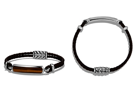 David Yurman Exotic Stone Station Brown Leather Bracelet with Tigers Eye - Bloomingdale's_2