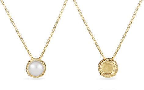 David Yurman Châtelaine Pendant Necklace with Pearl in 18k Gold - Bloomingdale's_2