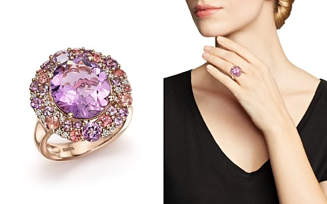 Purple Amethyst, Pink Amethyst, Pink Tourmaline and Diamond Cocktail Ring in 14K Rose Gold - 100% Exclusive - Bloomingdale's_2