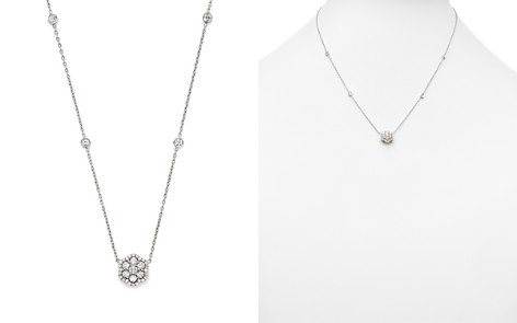 Diamond Flower Pendant Necklace in 14K White Gold, .75 ct. t.w. - Bloomingdale's_2