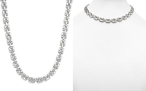 "Roberto Coin 18K White Gold Retro Diamond Collar Necklace, 16"" - Bloomingdale's_2"