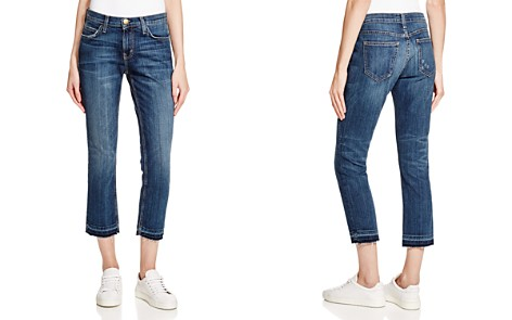 Current/Elliott Cropped Straight Jeans in Loved - Bloomingdale's_2