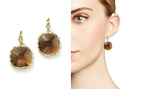 Roberto Coin 18K Yellow Gold Ipanema Square Earrings with Citrine - Bloomingdale's_2