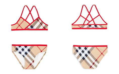 Burberry Girls' Check Print 2-Piece Swimsuit - Little Kid, Big Kid - Bloomingdale's_2