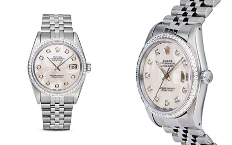 Pre-Owned Rolex Stainless Steel and 18K White Gold Datejust Watch with Mother-of-Pearl Dial and Diamond Bezel, 36mm - Bloomingdale's_2