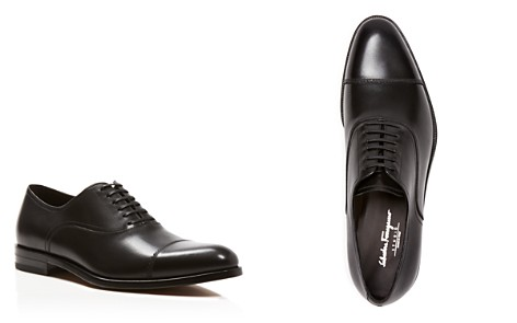 Salvatore Ferragamo Men's Guru Cap Toe Leather Oxfords - Bloomingdale's_2