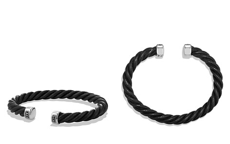 David Yurman Cable Classics Leather Cuff Bracelet in Black - Bloomingdale's_2