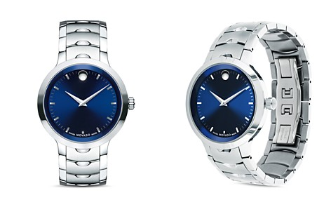Movado Stainless Steel Luno Watch, 40mm - Bloomingdale's_2