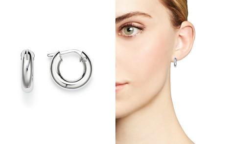 Roberto Coin 18K White Gold Hoop Earrings - Bloomingdale's_2