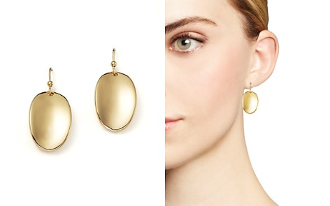 Roberto Coin 18K Yellow Gold Oval Drop Earrings - Bloomingdale's_2